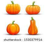 pumpkin set on white background.... | Shutterstock .eps vector #1530379916