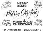 merry christmas lettering set.... | Shutterstock .eps vector #1530386543