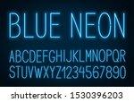 neon thin high blue font on... | Shutterstock .eps vector #1530396203