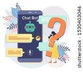messenger chatbot concept... | Shutterstock .eps vector #1530403046