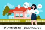 buy or rent house concept. idea ... | Shutterstock .eps vector #1530406793