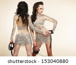 fete. clubbing. two women in... | Shutterstock . vector #153040880