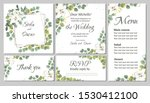 vector floral template for... | Shutterstock .eps vector #1530412100