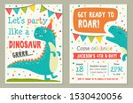 dinosaur toy party invitation... | Shutterstock .eps vector #1530420056
