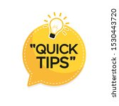 quick tips banner with light... | Shutterstock .eps vector #1530443720