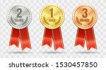 gold silver and bronze winner... | Shutterstock .eps vector #1530457850