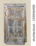 closed old wooden weathered...   Shutterstock . vector #153046400