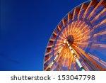 ferris wheel and rollercoaster... | Shutterstock . vector #153047798