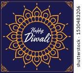 elegant diwali design for... | Shutterstock .eps vector #1530483206