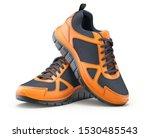 Sport Shoes Orange Black On...