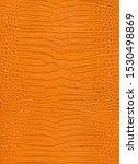 Close Up Orange Crocodile Skin...