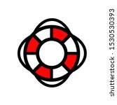 Lifebuoy Icon Vector...