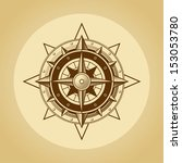 wind rose in old retro style....   Shutterstock .eps vector #153053780