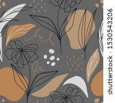 modern floral seamless pattern... | Shutterstock .eps vector #1530543206
