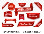 christmas sale tags collection. ... | Shutterstock .eps vector #1530545060