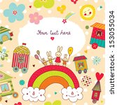 children's postcard. | Shutterstock .eps vector #153055034