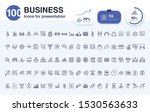 100 business line icon for... | Shutterstock .eps vector #1530563633