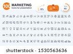 100 marketing line icon for... | Shutterstock .eps vector #1530563636