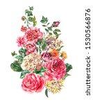 watercolor vintage floral... | Shutterstock . vector #1530566876