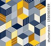 geometric 3d seamless pattern... | Shutterstock .eps vector #1530583559
