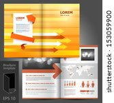vector orange brochure template ... | Shutterstock .eps vector #153059900