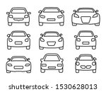 set of car icons thin line. web ... | Shutterstock .eps vector #1530628013