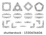 text frame  monogram  divider ... | Shutterstock .eps vector #1530656606