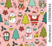 cute cartoon character  pine... | Shutterstock .eps vector #1530658616