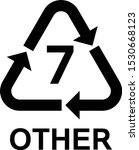 recycling symbols number 7... | Shutterstock .eps vector #1530668123