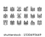 european cities landmarks icons ... | Shutterstock .eps vector #1530695669
