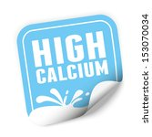 high calcium sticker and tag... | Shutterstock . vector #153070034