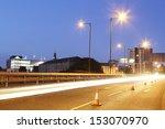 Traffic Light Trails Crossing...