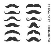 mustache icon set. funny fake... | Shutterstock .eps vector #1530790586