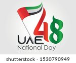 48th united arab emirates... | Shutterstock .eps vector #1530790949