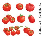 Fresh Cartoon Tomatoes. Whole...