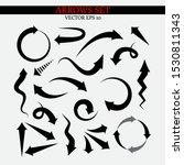 set of various black vector... | Shutterstock .eps vector #1530811343