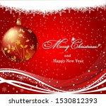 vector christmas border design... | Shutterstock .eps vector #1530812393