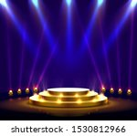 stage podium with lighting ... | Shutterstock .eps vector #1530812966