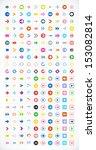 200 arrow sign icon set  color...