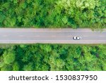 aerial view of the road passing ... | Shutterstock . vector #1530837950