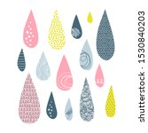 rain drops vector illustrations ...   Shutterstock .eps vector #1530840203