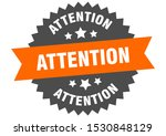 attention orange sign.... | Shutterstock .eps vector #1530848129
