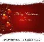 vector christmas border design...   Shutterstock .eps vector #1530867119