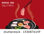 traditional korean food  korean ... | Shutterstock .eps vector #1530876149
