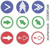 arrows sign icon set  vector