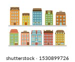 set of modern multi storey... | Shutterstock .eps vector #1530899726