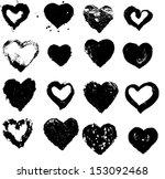 heart silhouette vector... | Shutterstock .eps vector #153092468
