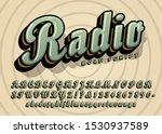 Radio Bold Cursive Script...