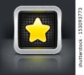 yellow gold star icon with...
