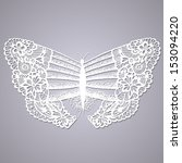 Lacy Butterfly. Abstract Hand...